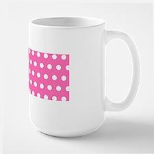 Pink And White Polka Dots Mugs
