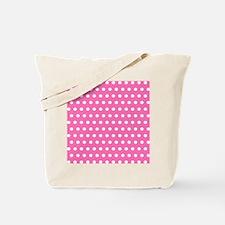 Pink And White Polka Dots Tote Bag
