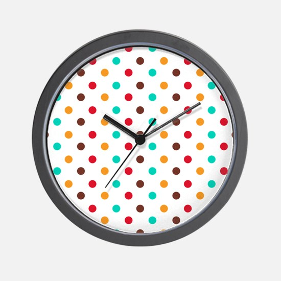 Multi Color Polka Dots Wall Clock