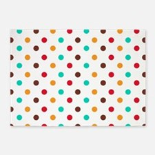 Multi Color Polka Dots 5'x7'Area Rug
