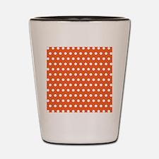 Orange And White Polka Dots Shot Glass
