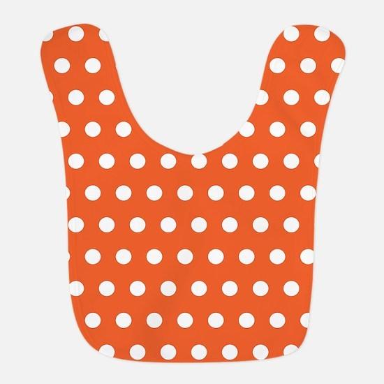 Orange And White Polka Dots Bib