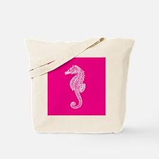 Hot Pink Seahorse Tote Bag