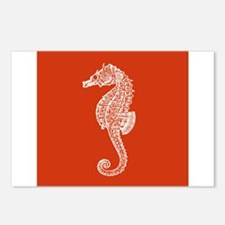 Red Seahorse Postcards (Package of 8)
