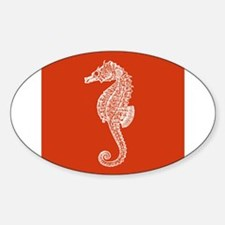 Red Seahorse Decal