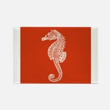 Red Seahorse Magnets