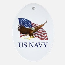 US NAVY Oval Ornament