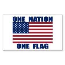 ONE NATION ONE FLAG Decal