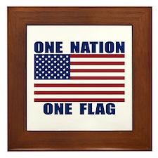 ONE NATION ONE FLAG Framed Tile
