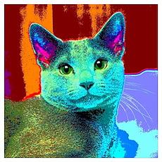 Pop Cat Art Poster