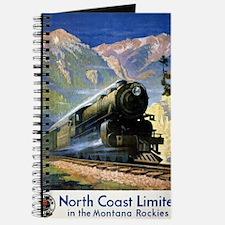 North Coast Limited Vintage Travel Poster  Journal