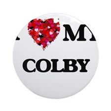 I love my Colby Ornament (Round)
