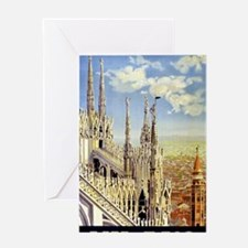 Milano Italy Vintage Travel Poster R Greeting Card