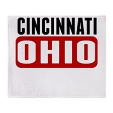 Cincinnati Ohio Throw Blanket