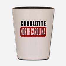 Charlotte North Carolina Shot Glass