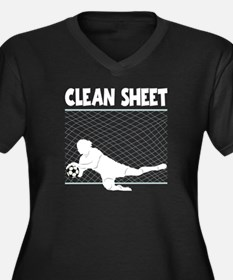 CLEAN SHEET Women's Plus Size V-Neck Dark T-Shirt