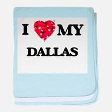 I love my Dallas baby blanket