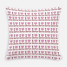 I Heart Castle Everyday Pillow