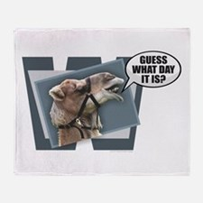 Cute Hump day Throw Blanket