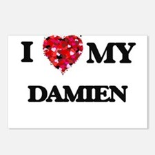 I love my Damien Postcards (Package of 8)