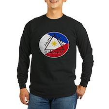 escrima decal white stroke Long Sleeve T-Shirt
