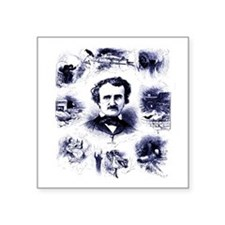 "Unique Poe Square Sticker 3"" x 3"""