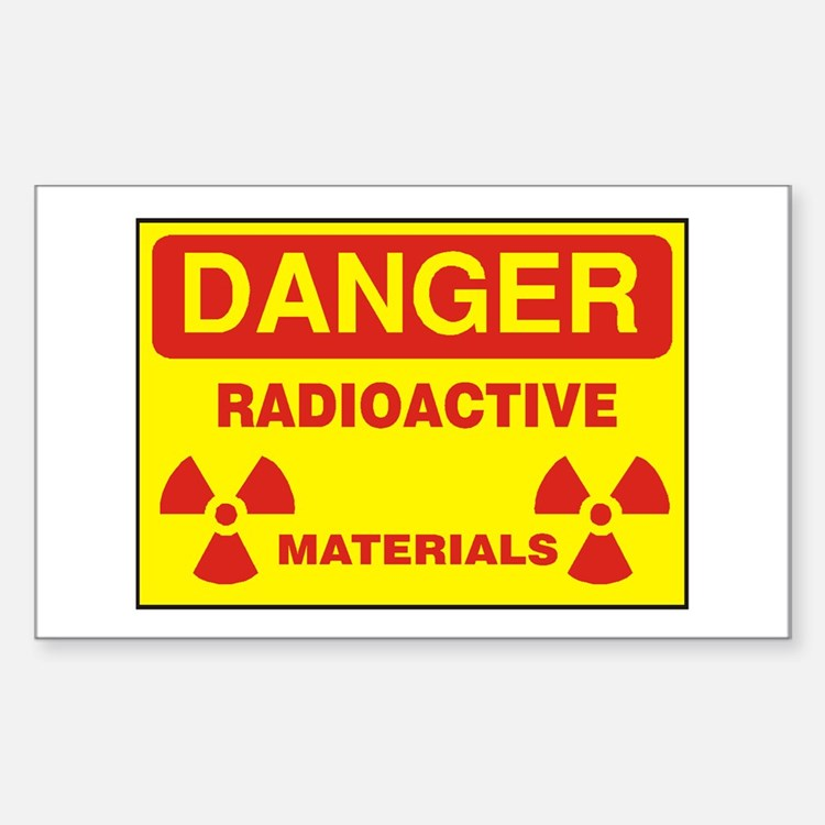 DANGER - RADIOACTIVE ELEMENTS! Decal