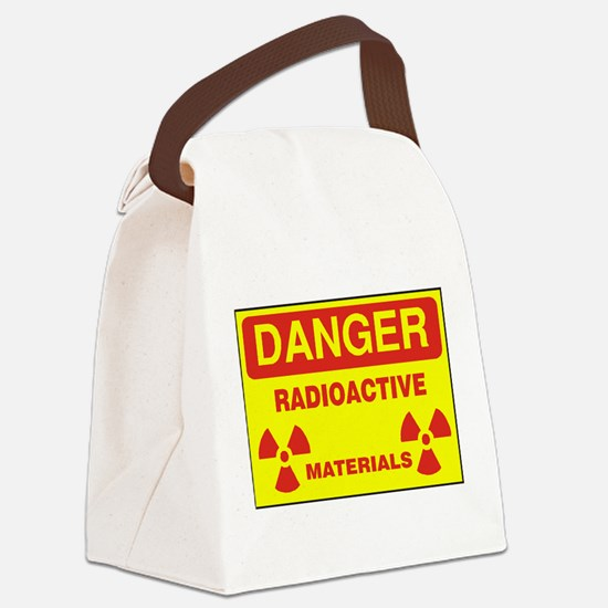 DANGER - RADIOACTIVE ELEMENTS! Canvas Lunch Bag