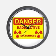 DANGER - RADIOACTIVE ELEMENTS! Wall Clock