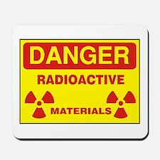 DANGER - RADIOACTIVE ELEMENTS! Mousepad