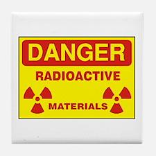 DANGER - RADIOACTIVE ELEMENTS! Tile Coaster