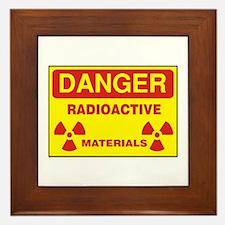 DANGER - RADIOACTIVE ELEMENTS! Framed Tile
