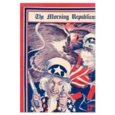 The morning Republican Uncle Sam Poster 1898 Resto Poster