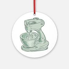 Kitchen Mixer Vintage Etching Ornament (Round)