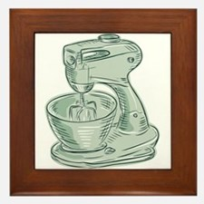 Kitchen Mixer Vintage Etching Framed Tile