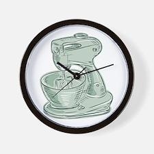 Kitchen Mixer Vintage Etching Wall Clock