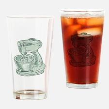 Kitchen Mixer Vintage Etching Drinking Glass
