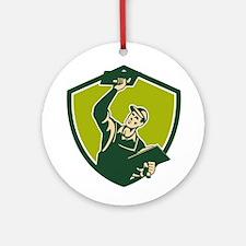 Plasterer Mason Worker Trowel Shield Retro Ornamen