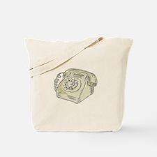 Telephone Vintage Etching Tote Bag