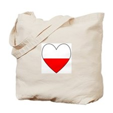 Polish Flag Heart Tote Bag
