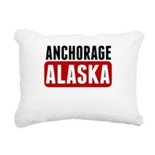 Anchorage Alaska Rectangular Canvas Pillow