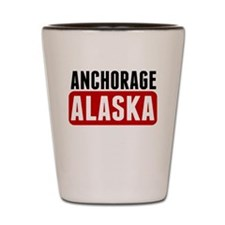 Anchorage Alaska Shot Glass