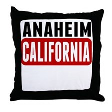 Anaheim California Throw Pillow