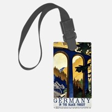 Germany In the Black Forest Vint Large Luggage Tag