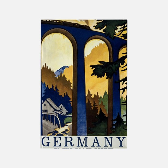 Germany In the Black Forest Vinta Rectangle Magnet