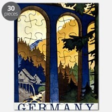 Germany In the Black Forest Vintage Poster  Puzzle