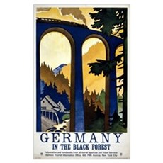 Germany In the Black Forest Vintage Poster Restore Poster