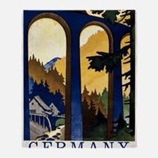 Germany In the Black Forest Vintage  Throw Blanket