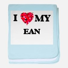 I love my Ean baby blanket