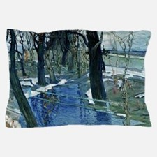 Isaak Brodsky painting, Early Spring Pillow Case